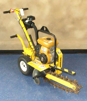 AMAC hire - powered trench digger