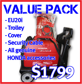 EU20i Honda Generator Value Pack