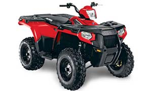 Polaris Hawkeye 400 in red