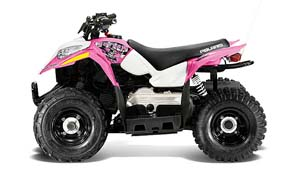 Polaris Outlaw 50 in pink - get the kids adapt to riding at an early stage.