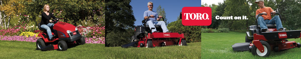 AMAC ride on lawn mowers - Toro domestic lawn tractors and zero turn mowers