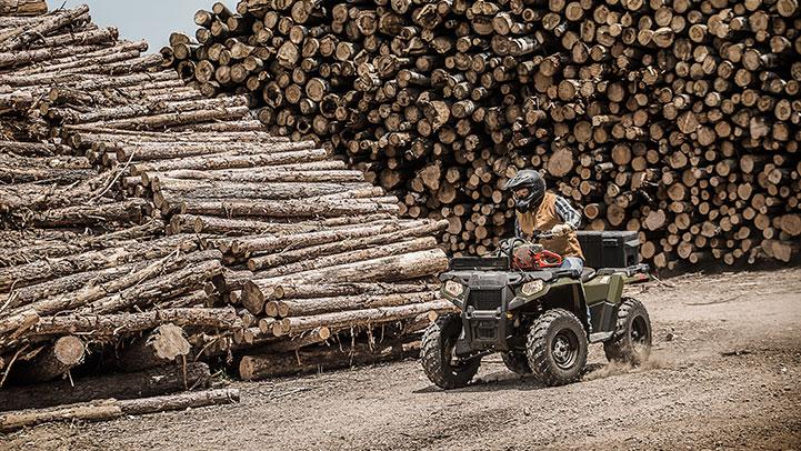Polaris 570 EPS Camo sawmill