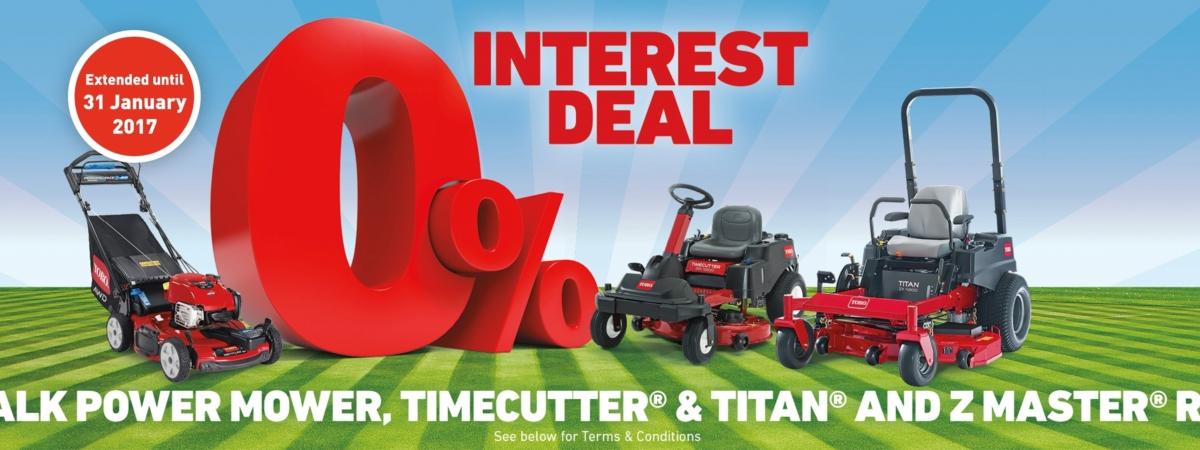 0% Interest Deal - TORO
