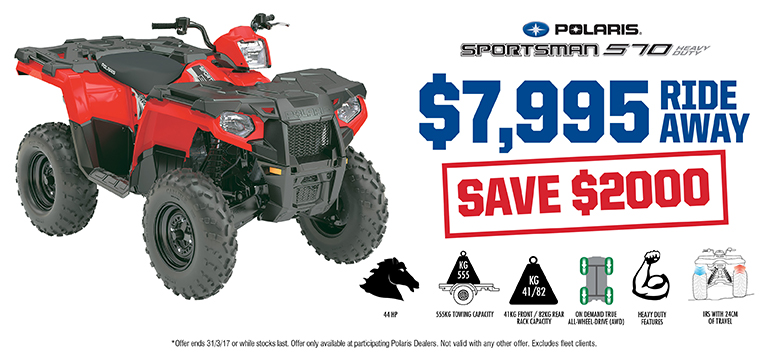 Sportsman 570 Save $2000