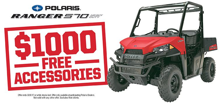 Ranger 570 HD $1000 Free Accessories