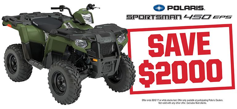 Sportsman 450 EPS Save $2000
