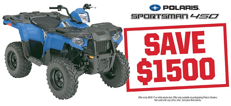 Sportsman 450 Save $1500