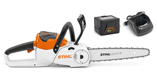 compact battery chainsaw with charger