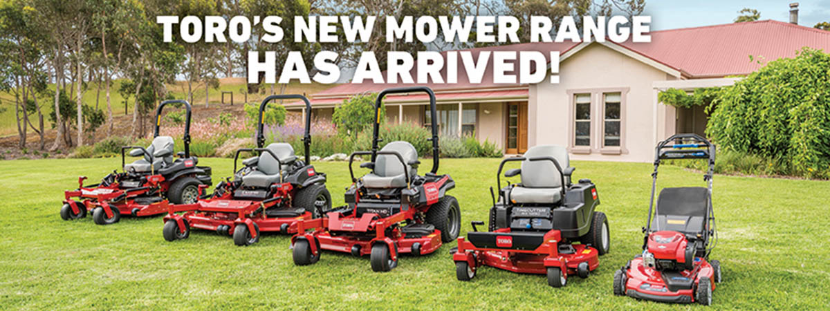 Toro's New Mower Range Has Arrived!