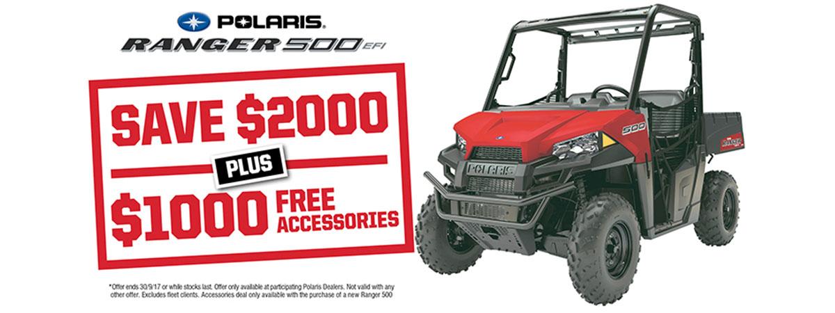 Ranger 500 Save $2000 Free Accessories
