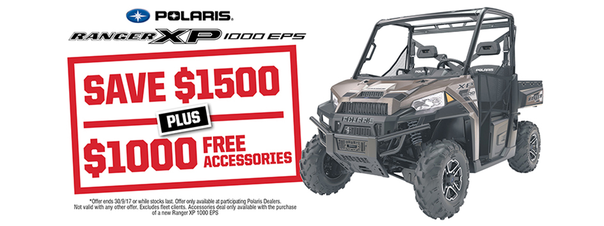 Ranger XP 1000 EPS Bronze Save $1500 Free Accessories