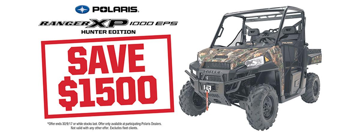 Ranger XP 1000 EPS Save $1500
