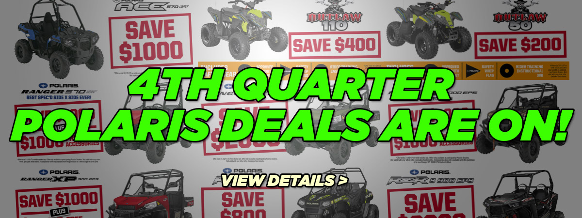 Massive Deals On Polaris ATV at AMAC