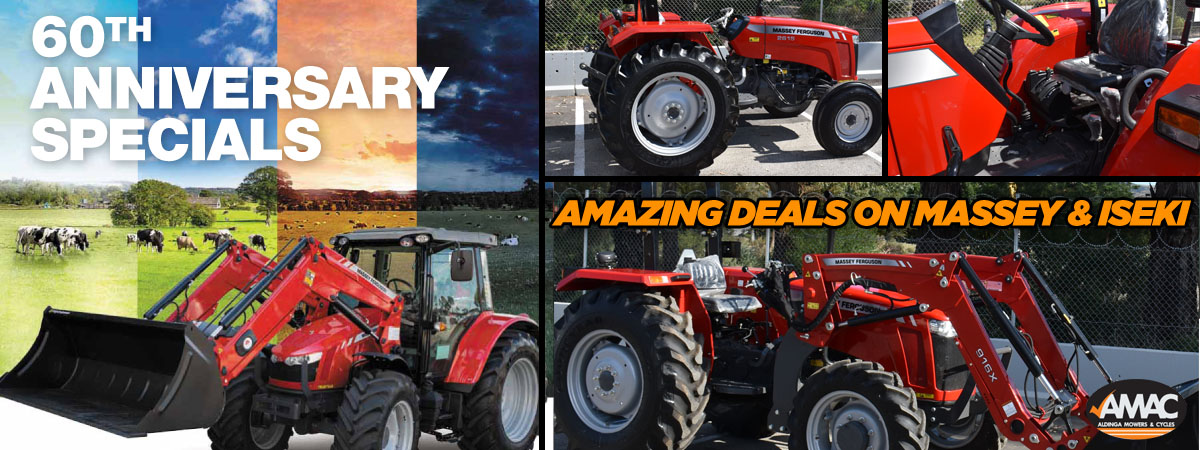 60th Anniversary Specials on Massey & Iseki Tractors