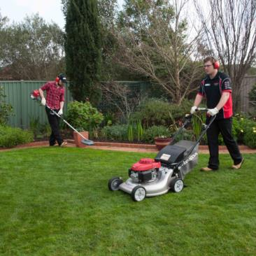 Honda HRR216VYU Lawnmower in use