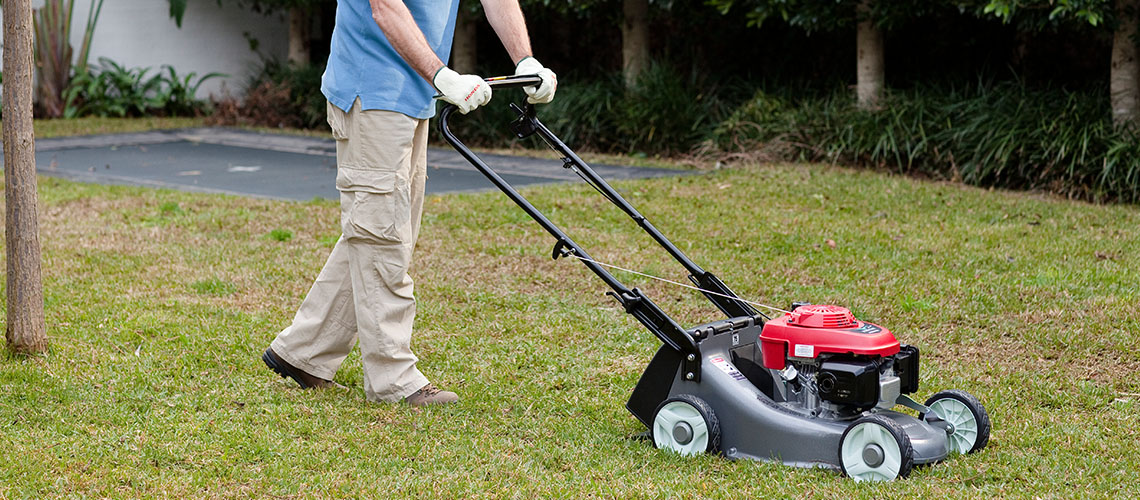 Honda HRU19M1 Walk Behind Lawnmower in use