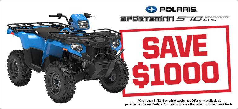 Polaris 570 HD EPS – save $1000