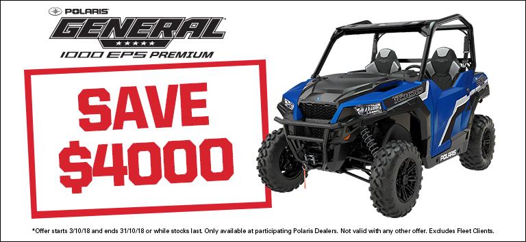 Polaris General 1000 EPS – save $4000