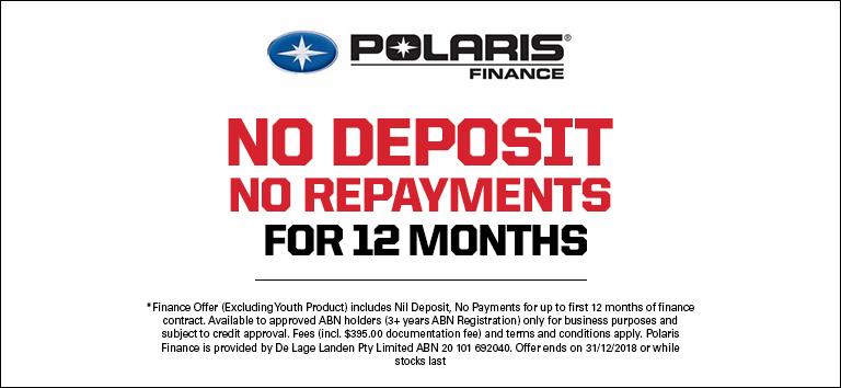 Polaris No Deposit No Repayments For 12 Months