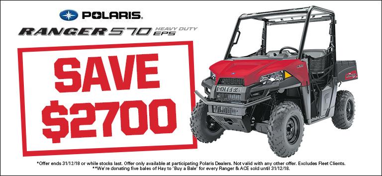Polaris Ranger 570 EPS – save $2700