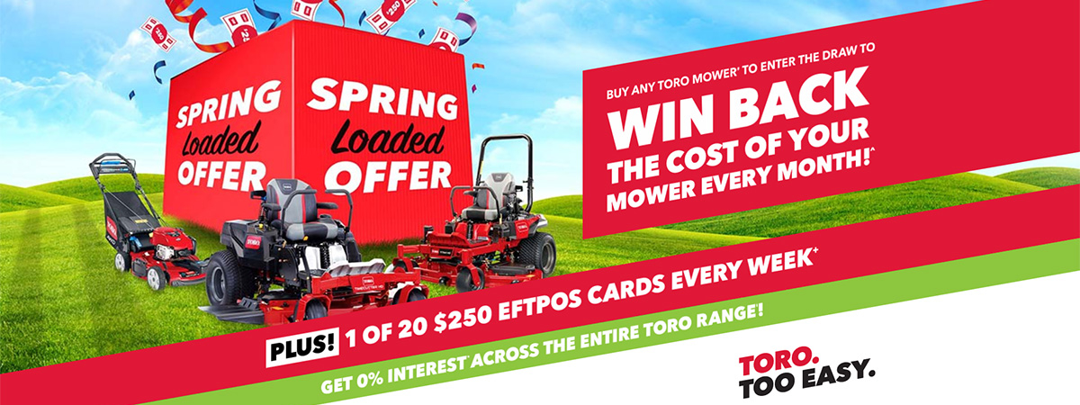 TORO 2019 Spring Specials at AMAC Aldinga Mowers & Cycles